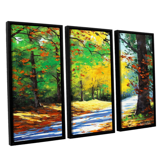 Brushstone Vibrant Autumn 3-pc. Floater Framed Canvas Wall Art