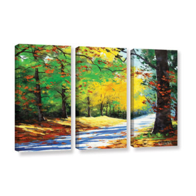 Brushstone Vibrant Autumn 3-pc. Gallery Wrapped Canvas Wall Art