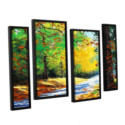 Brushstone Vibrant Autumn 4-pc. Floater Framed Staggered Canvas Wall Art