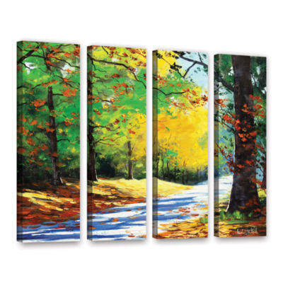 Brushstone Vibrant Autumn 4-pc. Gallery Wrapped Canvas Wall Art