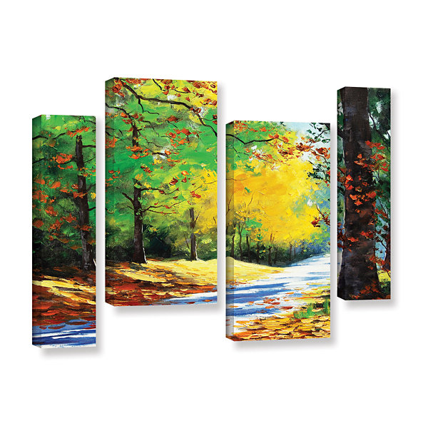 Brushstone Vibrant Autumn 4-pc. Gallery Wrapped Staggered Canvas Wall Art