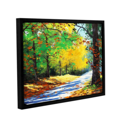 Brushstone Vibrant Autumn Gallery Wrapped Floater-Framed Canvas Wall Art