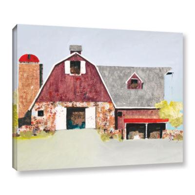 Brushstone Barn No. 2 Gallery Wrapped Canvas WallArt