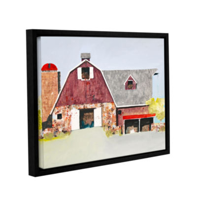Brushstone Barn No. 2 Gallery Wrapped Floater-Framed Canvas Wall Art