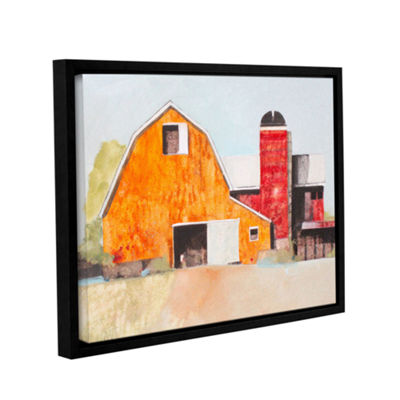 Brushstone Barn No. 3 Gallery Wrapped Floater-Framed Canvas Wall Art