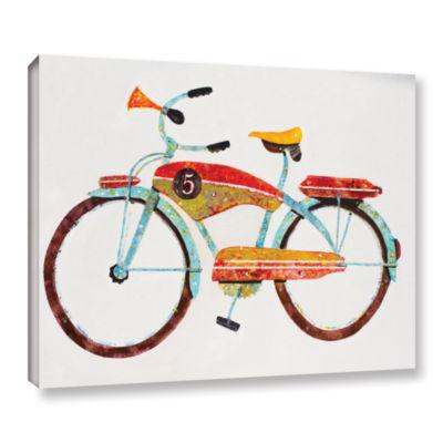 Brushstone Bike No. 5 Gallery Wrapped Canvas WallArt
