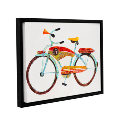 Brushstone Bike No. 5 Gallery Wrapped Floater-Framed Canvas Wall Art