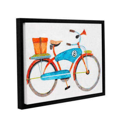 Brushstone Bike No. 8 Gallery Wrapped Floater-Framed Canvas Wall Art