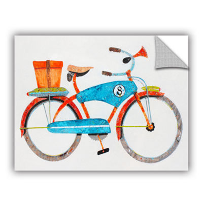 Brushstone Bike No. 8 Removable Wall Decal