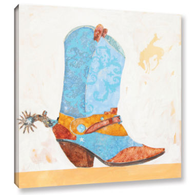 Brushstone Boy Boot Gallery Wrapped Canvas Wall Art