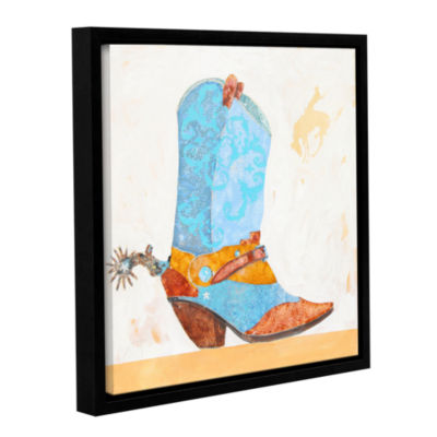 Brushstone Boy Boot Gallery Wrapped Floater-FramedCanvas Wall Art