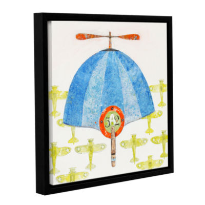 Brushstone Cap No. 52 Gallery Wrapped Floater-Framed Canvas Wall Art