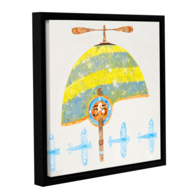 Brushstone Cap No. 55 Gallery Wrapped Floater-Framed Canvas Wall Art