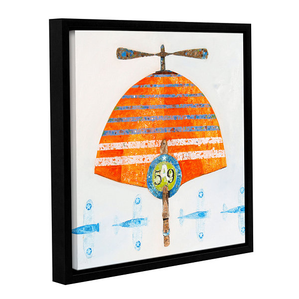 Brushstone Cap No. 59 Gallery Wrapped Floater-Framed Canvas Wall Art