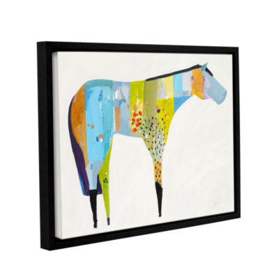 Brushstone Horse No. 27 Gallery Wrapped Floater-Framed Canvas Wall Art