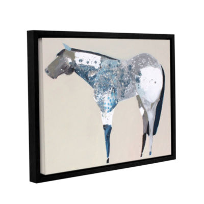 Brushstone Horse No. 34 Gallery Wrapped Floater-Framed Canvas Wall Art