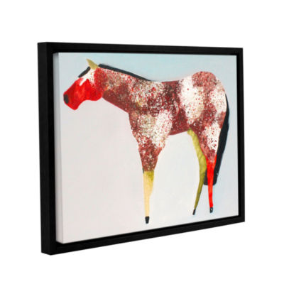 Brushstone Horse No. 39 Gallery Wrapped Floater-Framed Canvas Wall Art