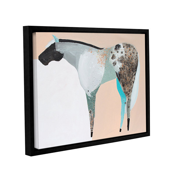 Brushstone Horse No. 65 Gallery Wrapped Floater-Framed Canvas Wall Art
