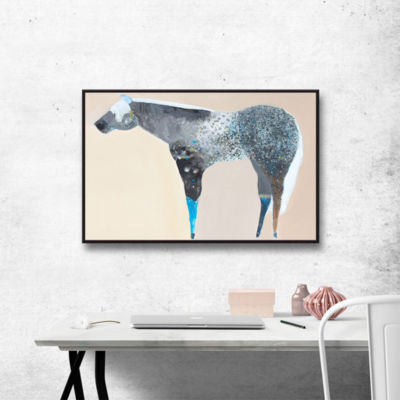 Brushstone Horse No. 66 Gallery Wrapped Floater-Framed Canvas Wall Art