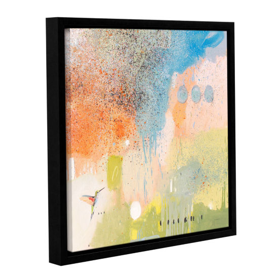 Brushstone Hummingbird At Home 1 Gallery Wrapped Floater-Framed Canvas Wall Art