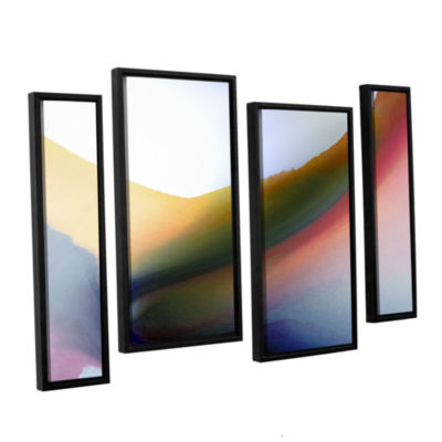 Brushstone Being 02B 4-pc. Floater Framed Staggered Canvas Wall Art