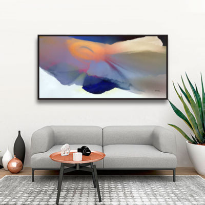 Brushstone Embrace 2 Gallery Wrapped Floater-Framed Canvas Wall Art