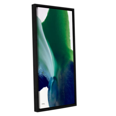 Brushstone Flora 6 Gallery Wrapped Floater-FramedCanvas Wall Art