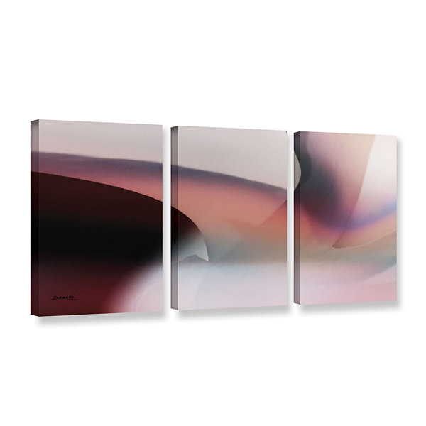 Brushstone Movement 1 3-pc. Gallery Wrapped CanvasWall Art