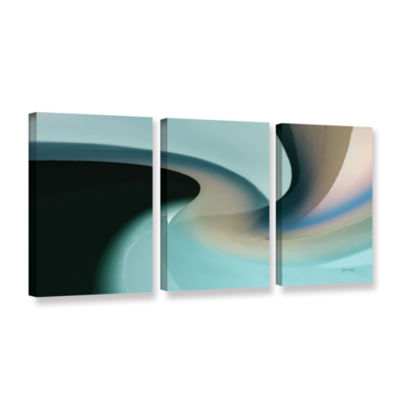 Brushstone Movement 2 3-pc. Gallery Wrapped CanvasWall Art