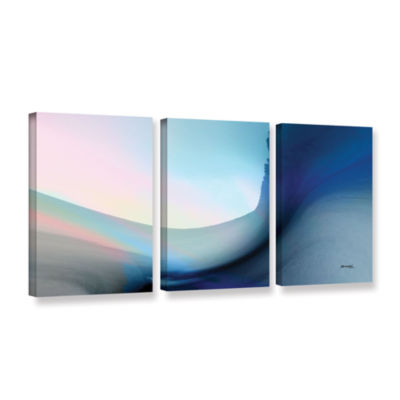 Brushstone Ocean Vibes 1 3-pc. Gallery Wrapped Canvas Wall Art