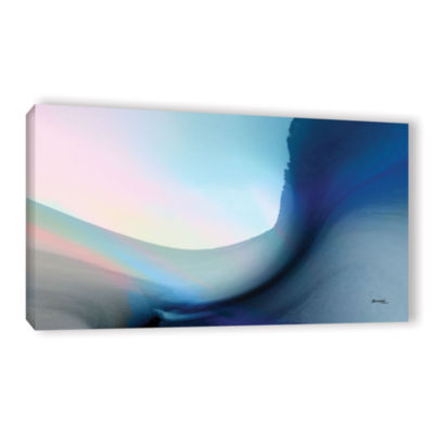 Brushstone Ocean Vibes 1 Gallery Wrapped Canvas Wall Art