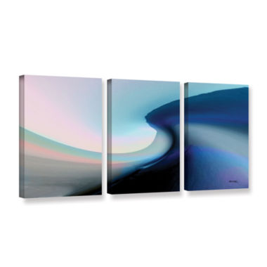 Brushstone Ocean Vibes 2 3-pc. Gallery Wrapped Canvas Wall Art