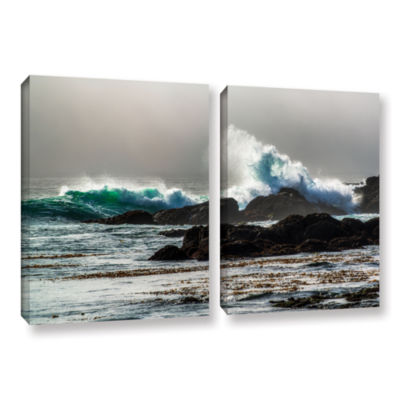 Brushstone The Wave Long Beach 2-pc. Gallery Wrapped Canvas Wall Art