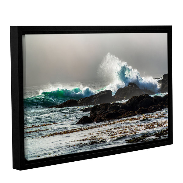 Brushstone The Wave Long Beach Gallery Wrapped Floater-Framed Canvas Wall Art