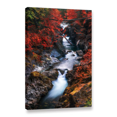 Brushstone Water In The Fall Gallery Wrapped Canvas Wall Art