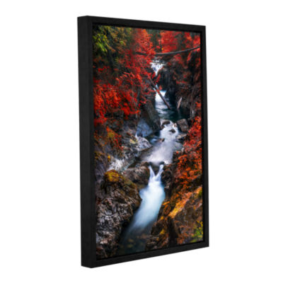 Brushstone Water In The Fall Gallery Wrapped Floater-Framed Canvas Wall Art