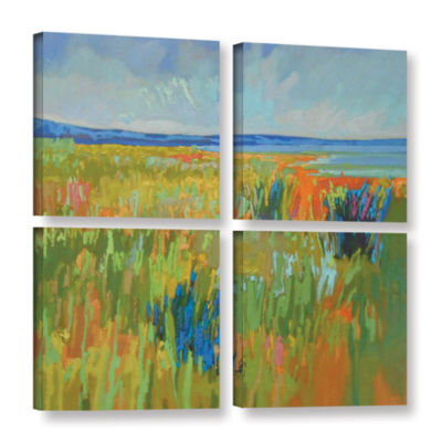 Brushstone Lake Shore II 4-pc. Square Gallery Wrapped Canvas Wall Art