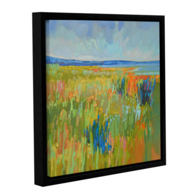 Brushstone Lake Shore II Gallery Wrapped Floater-Framed Canvas Wall Art