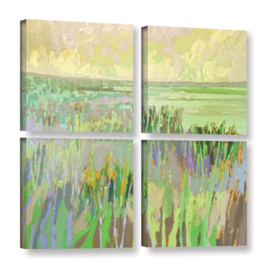 Brushstone Lake Shore III 4-pc. Square Gallery Wrapped Canvas Wall Art