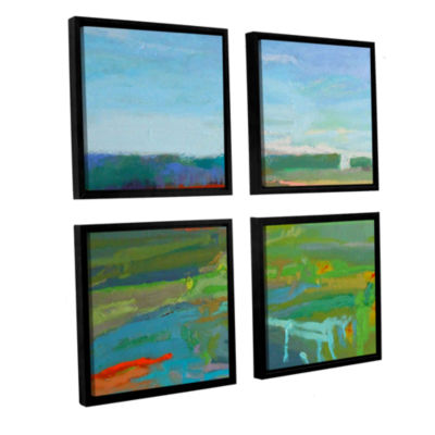 Brushstone Vinalhaven#5 4-pc. Square Floater Framed Canvas Wall Art