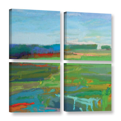 Brushstone Vinalhaven#5 4-pc. Square Gallery Wrapped Canvas Wall Art