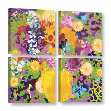 Brushstone Hard Candy 4-pc. Square Gallery WrappedCanvas Wall Art