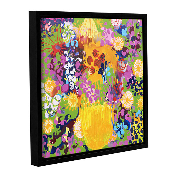 Brushstone Hard Candy Gallery Wrapped Floater-Framed Canvas Wall Art