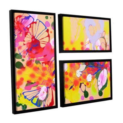 Brushstone Lola Fiesta 3-pc. Flag Floater Framed Canvas Wall Art