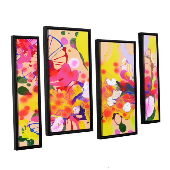 Brushstone Lola Fiesta 4-pc. Floater Framed Staggered Canvas Wall Art