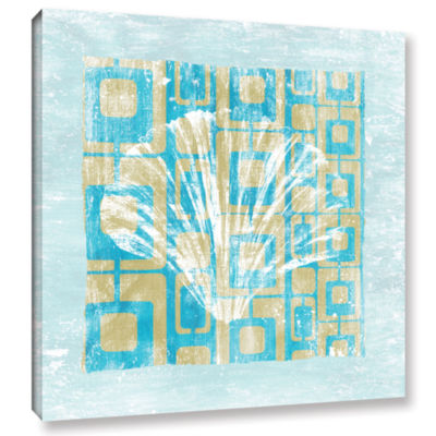 Brushstone Shell Game I Gallery Wrapped Canvas Wall Art