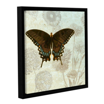 Brushstone Le Papillon Pattern 2 Gallery Wrapped Floater-Framed Canvas Wall Art