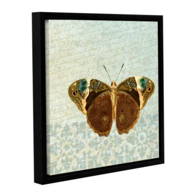Brushstone Le Papillon Pattern 3 Gallery Wrapped Floater-Framed Canvas Wall Art