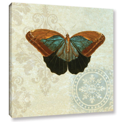 Brushstone Le Papillon Pattern 4 Gallery Wrapped Canvas Wall Art