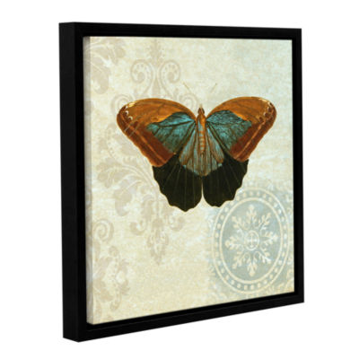Brushstone Le Papillon Pattern 4 Gallery Wrapped Floater-Framed Canvas Wall Art